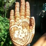Indian wedding mehendi palm