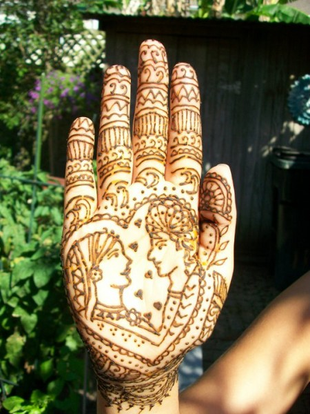 Indian wedding mehendi palm