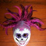 day of the dead sugar skull paper mache mask